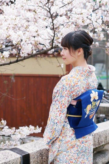 [京都] 第二次的てくてく京都 四條烏丸店 櫻花季下的和服體驗