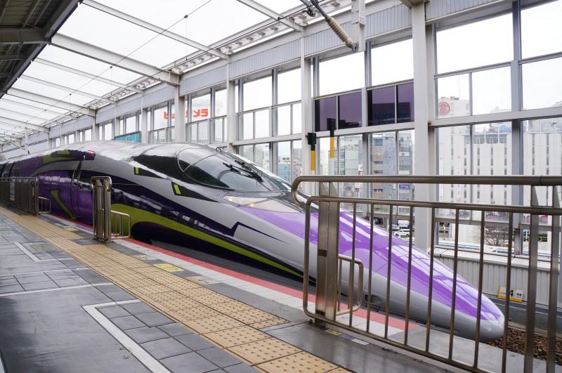 [鐵道] 山陽新幹線  期間限定 500 TYPE EVA PROJECT 新世紀福音戰士新幹線