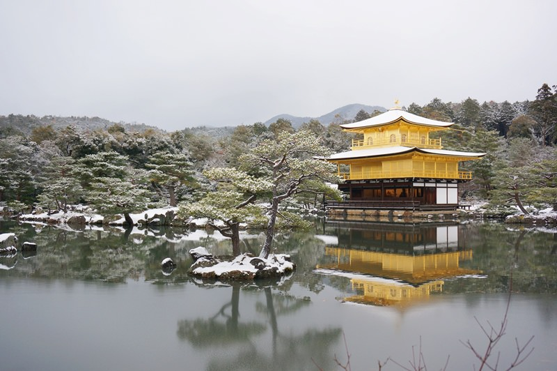 [京都] 雪色京都 如夢似幻雪金閣